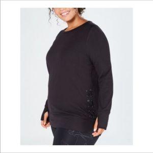 Ideology 3X lace side sweatshirt